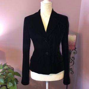 Ann taylor loft black velvet 2 button blazer